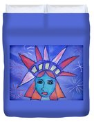 Emma's Lady Liberty Duvet Cover