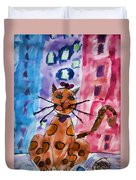 Emma's Spotted Kitty Duvet Cover