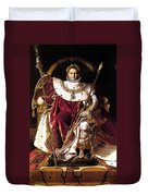Emperor Napoleon I On His Imperial Throne Duvet Cover