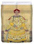 Emperor Qianlong In Old Age Duvet Cover