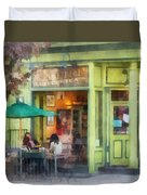 Hoboken Nj - Empire Coffee And Tea Duvet Cover