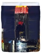 Empire State Buidling On The Water Duvet Cover