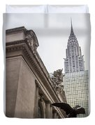 Empire State Building And Grand Central Station Duvet Cover by For Ninety One Days