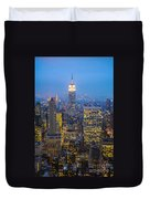 Empire State Building And Midtown Manhattan Duvet Cover