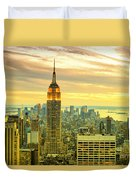 Empire State Building In The Evening Duvet Cover by Sabine Jacobs