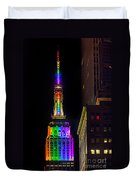 Empire State Building Lit For Gay Pride Duvet Cover