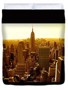 Manhattan And Empire State Building Duvet Cover