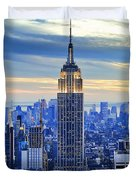 Empire State Building New York City Usa Duvet Cover