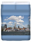Empire State From The Water Duvet Cover