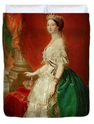 Empress Eugenie Of France 1826-1920 Wife Of Napoleon Bonaparte IIi 1808-73 Oil On Canvas Duvet Cover