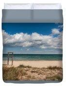 Empty Beach Duvet Cover