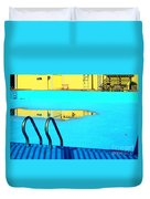 Empty Public Swimming Pool Bronx New York City Duvet Cover