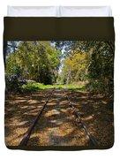 Empty Railroad Tracks Duvet Cover