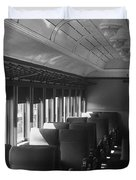Empty Railway Coach Duvet Cover