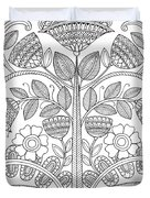 Emroidery Pattern 1 Duvet Cover by MGL Meiklejohn Graphics Licensing