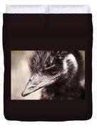 Emu Closeup Duvet Cover by Karol Livote