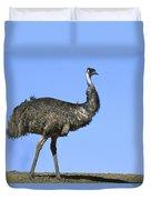 Emu Portrait Sturt National Park Duvet Cover