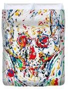Enamels Skull Painting Duvet Cover