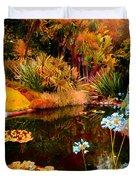 Enchaned Blue Lily Pond Duvet Cover