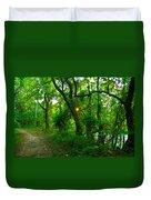 Enchanted Green Path Duvet Cover