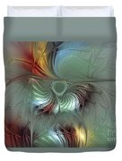 Enchanting Flower Bloom-abstract Fractal Art Duvet Cover by Karin Kuhlmann