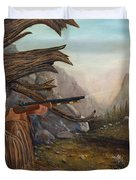 Encounter At Grizzly Pass Duvet Cover