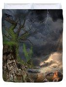 End Of Dark Night Duvet Cover