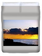 End Of Day On The Pacific Duvet Cover