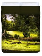 End Of Path Merged Image Duvet Cover