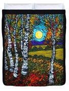 End Of Summer Birches Duvet Cover