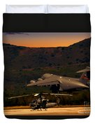 End Of The Day Departure Duvet Cover