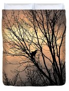 End Of The Day  Red Tailed Hawk Duvet Cover