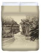 End Of The Road Merged Image Duvet Cover