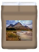 End Of The Road Mountain Duvet Cover