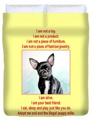 End The Puppy Mills Duvet Cover