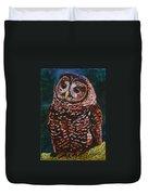 Endangered - Spotted Owl Duvet Cover