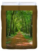 Endless Trail Into The Forest Duvet Cover