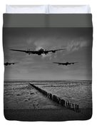 Enemy Coast Ahead Skipper Black And White Version Duvet Cover