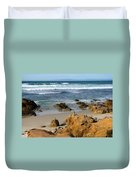 Energizing Seascape At Spanish Bay Duvet Cover