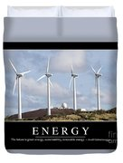Energy Inspirational Quote Duvet Cover