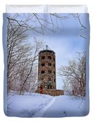 Enger Tower In Winter Duvet Cover
