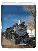 Engine 491 In The Colorado Railroad Museum Duvet Cover
