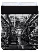 Engine Room Queen Mary 02 Bw 01 Duvet Cover