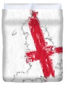 England Painted Flag Map Duvet Cover
