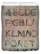 English Alphabet Music Sheets  Duvet Cover