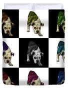 English Bulldog Dog Art - 1368 - V1 - M Duvet Cover