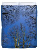 English Forest Trees Duvet Cover