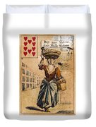 English Playing Card, C1754 Duvet Cover