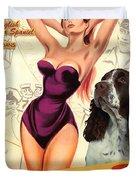 English Springer Spaniel Art Canvas Print - Doctor At Sea Movie Poster Duvet Cover