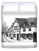English Village Duvet Cover by Shirley Miller